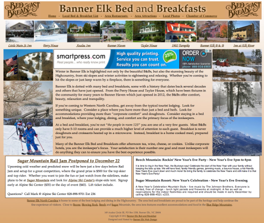Banner Elk B&B list