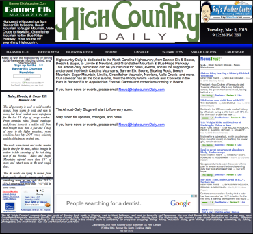 Highcountry Daily Blog